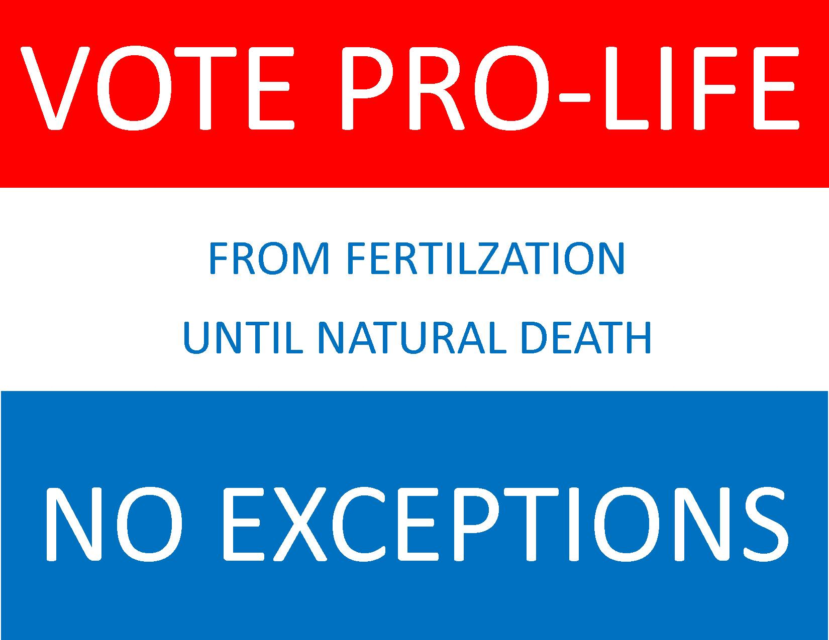 Vote prolife